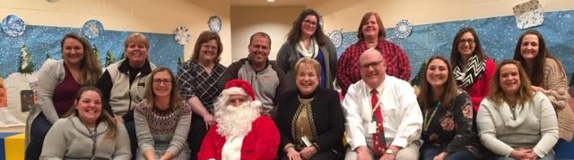 North Staff w/ Santa