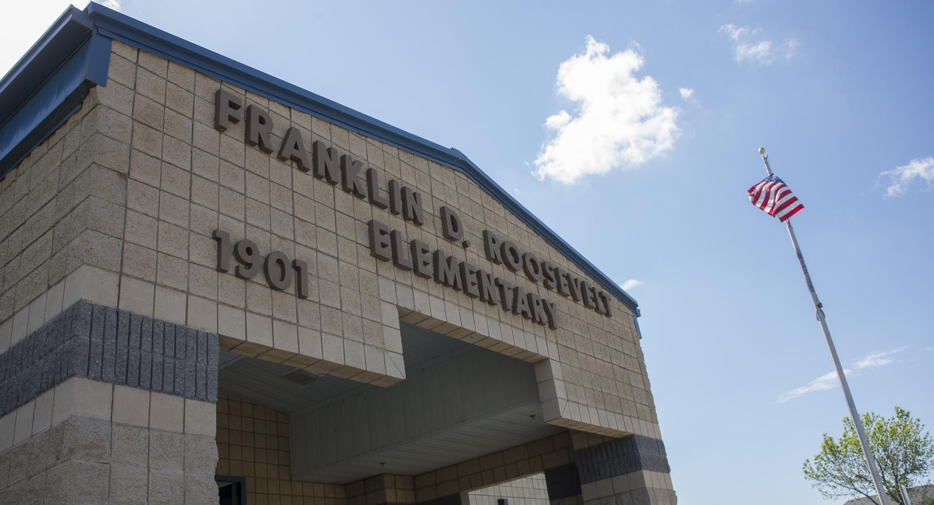 Exterior shot of Roosevelt Elementary