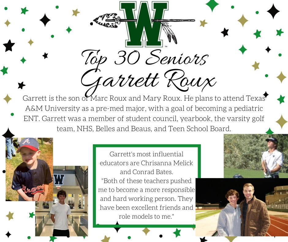 graphic of garrett roux