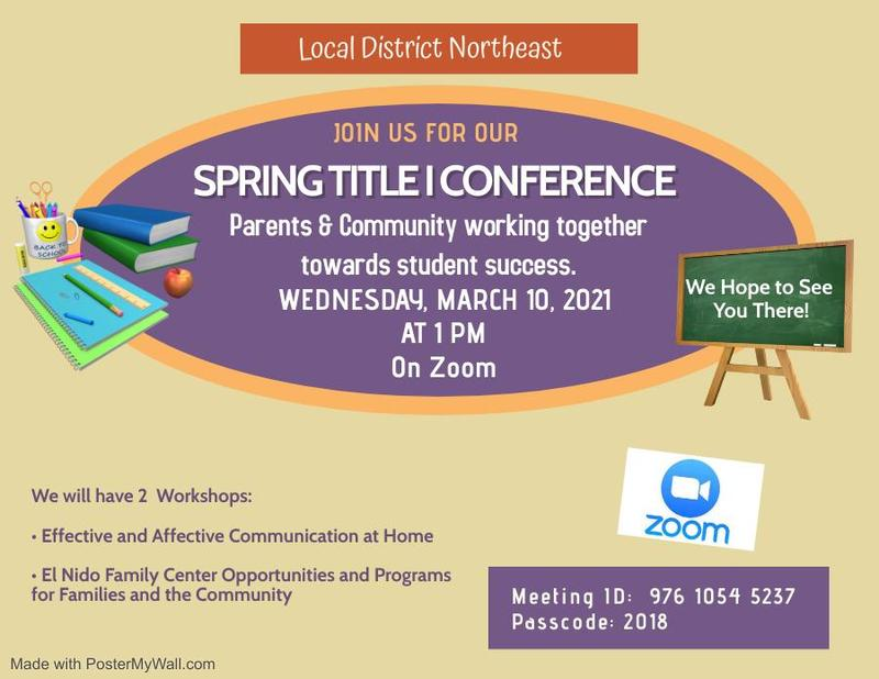 Spring Title I Conference