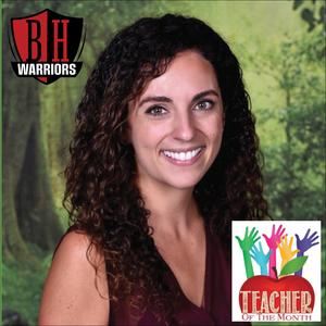 Ms Machado Teacher of the Month