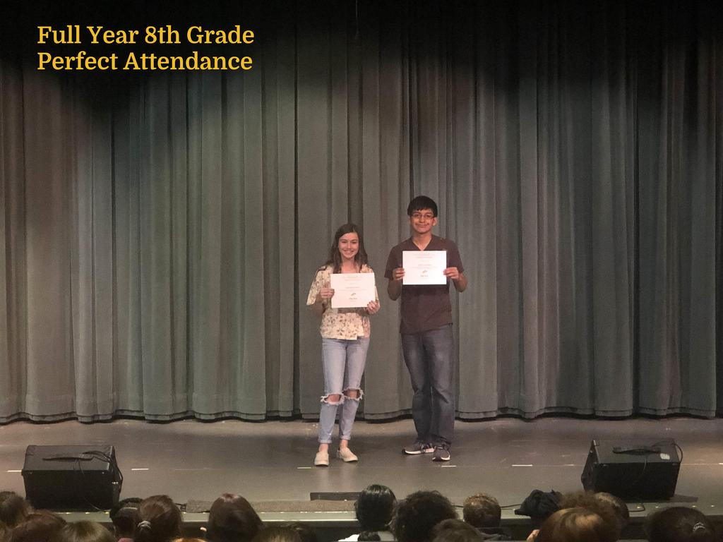 FY 8th Grade Perfect Attendance