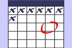 Calendar with a day circled
