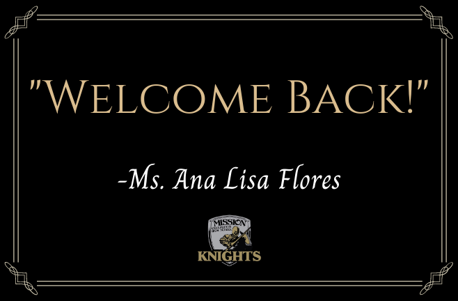 Our Principal, Ms. Ana Lisa Flores, Welcomes Back Our Knight Parents Featured Photo