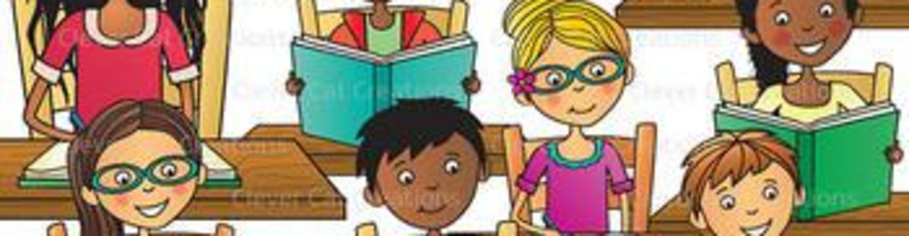Children studying image