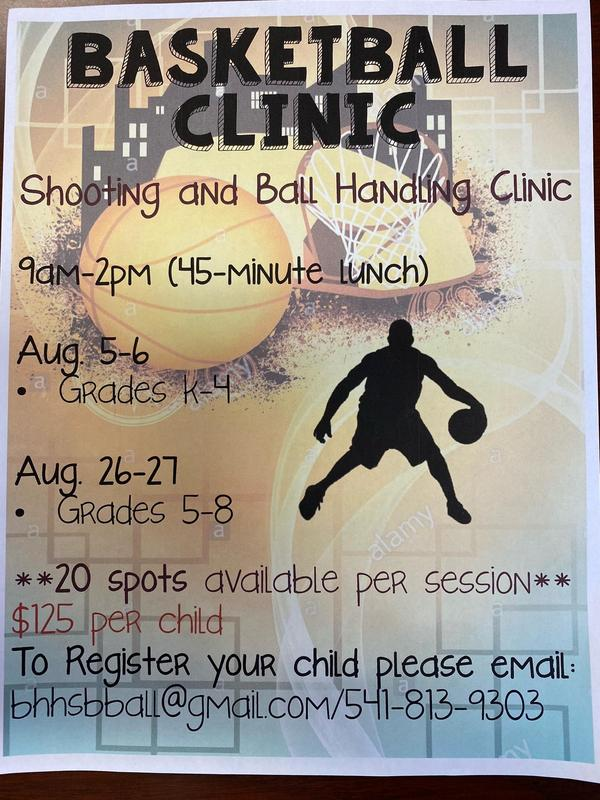 Basketball clinic flyer