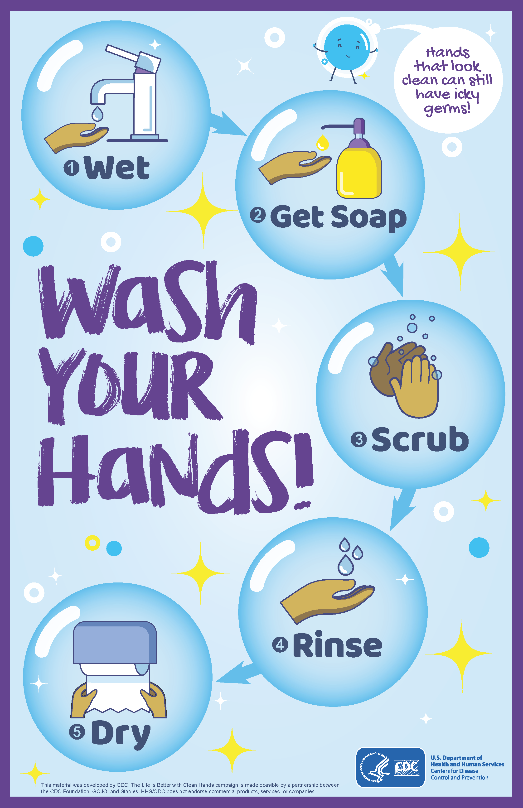 wash your hands flyer