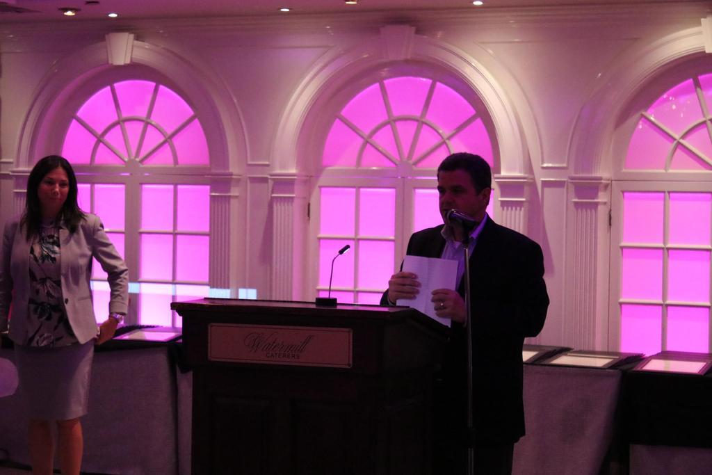 Board Member speaking at DDI's 2018 Employee Service Awards