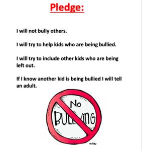 Anti-bullying pledge text