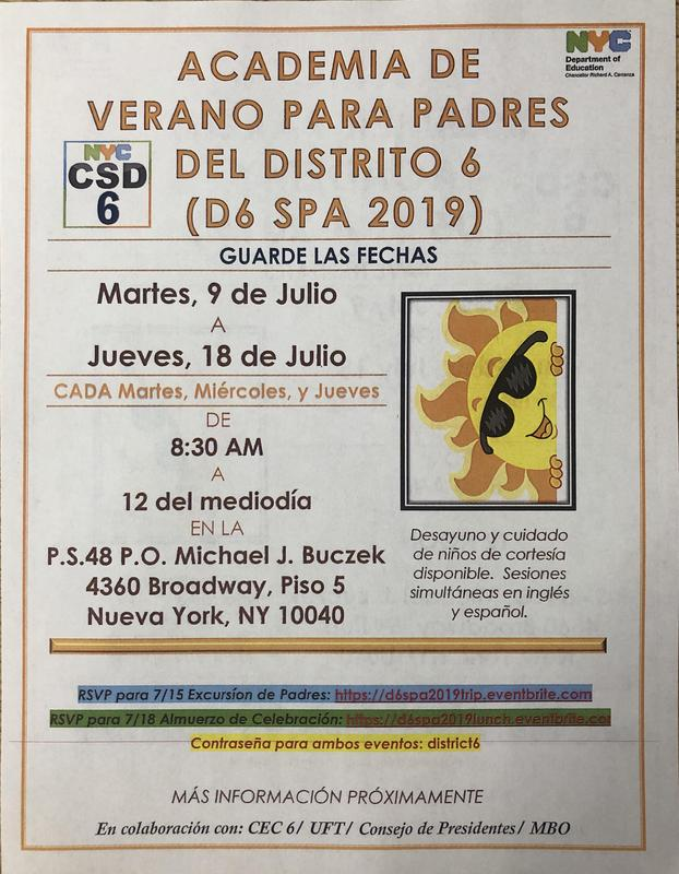 d6 spa 2019 flyer Spanish