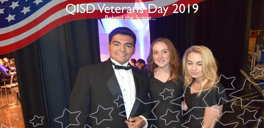 QISD VETERANS DAY 2019 BEHIND THE SCENE...CHOIR STUDENTS BACKSTAGE