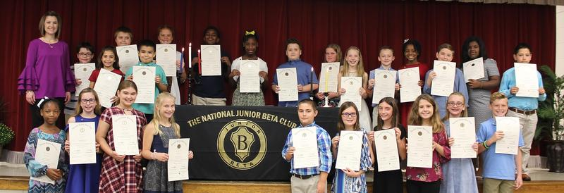 Junior Beta Club Induction Ceremony Featured Photo