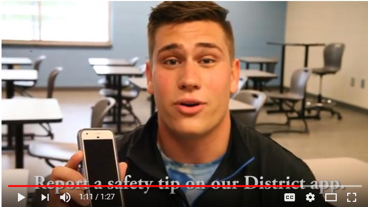report suspicious activity on the district app