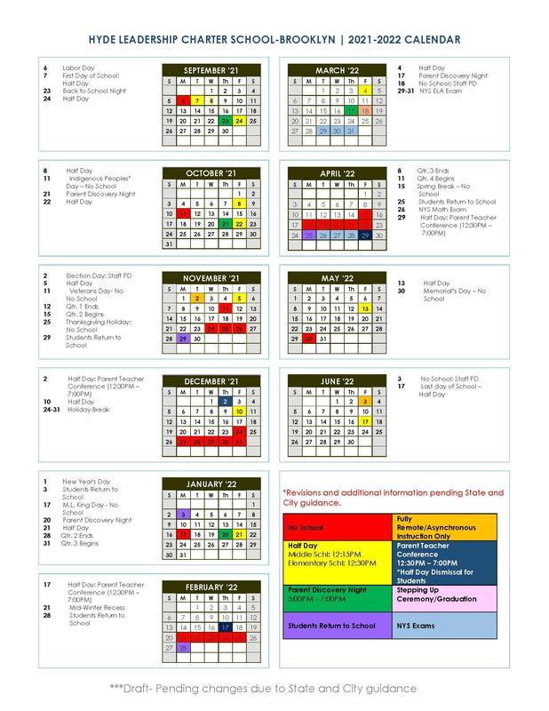 Hyde-Brooklyn 2021-2022 School Year Calendar Featured Photo
