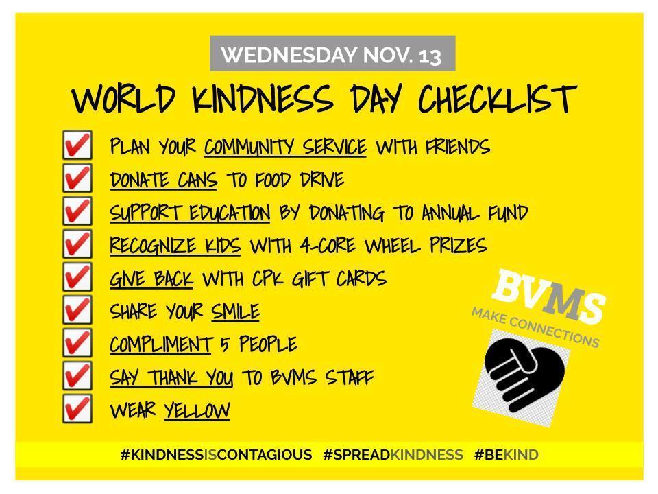 Kindness Checklist