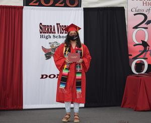 Sierra Vista High School honored its Class of 2020 with a drive-thru celebration on June 5, affording graduates the opportunity to receive their diplomas in front of their families.