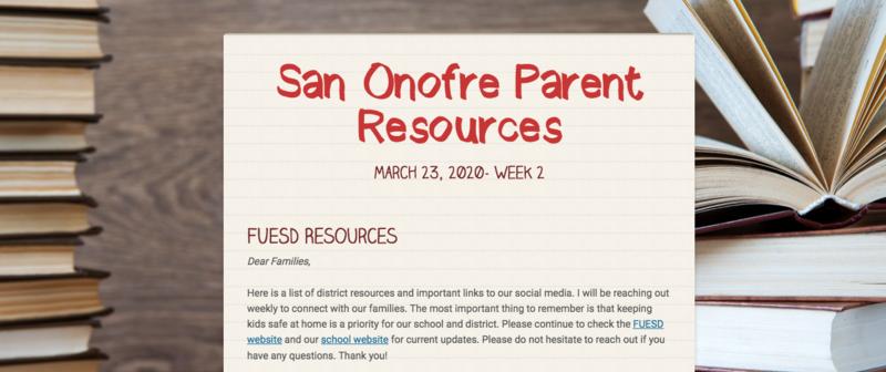 School Closure Week 2 Newsletter Featured Photo