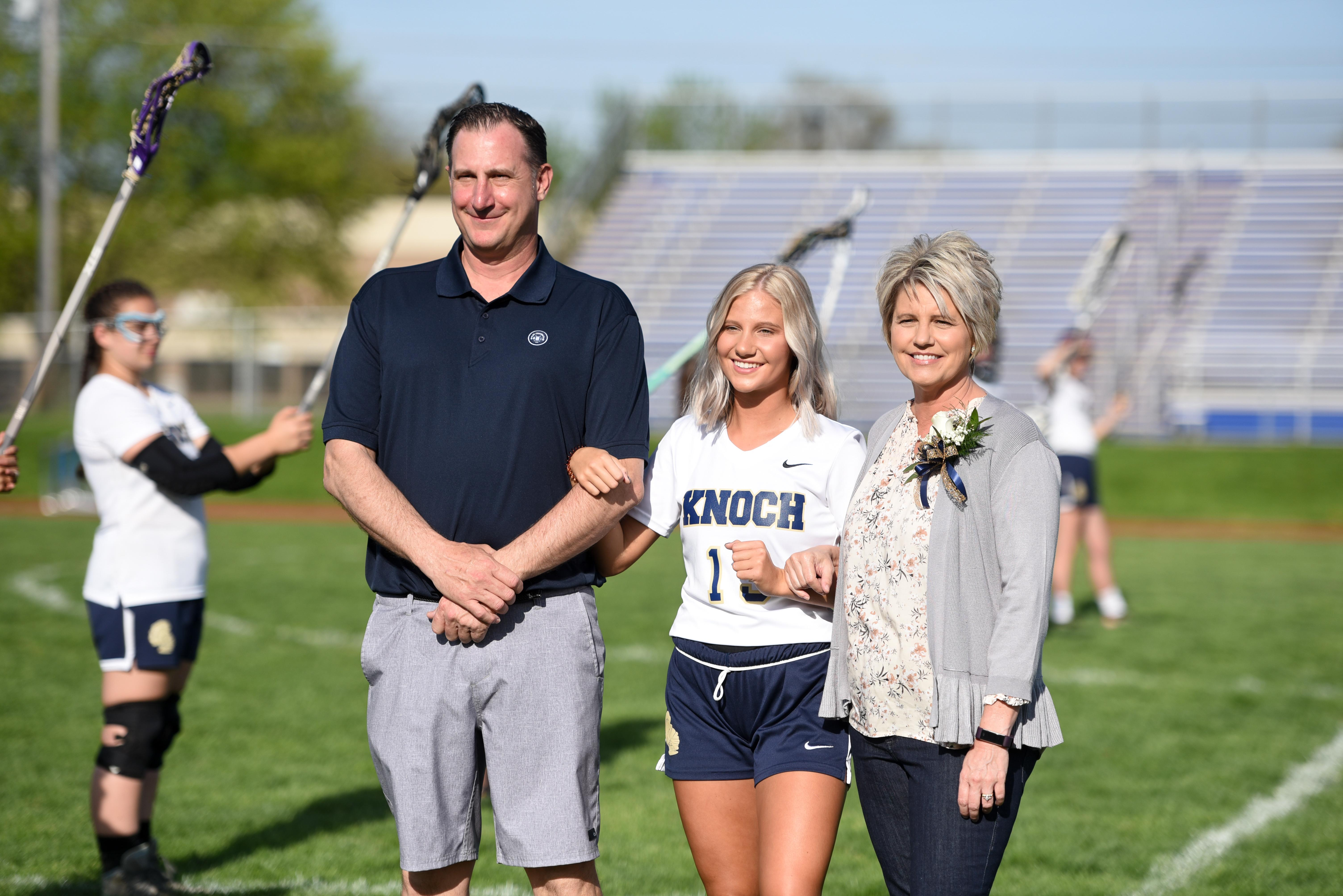 Pic of Kennedy Eurich and parents