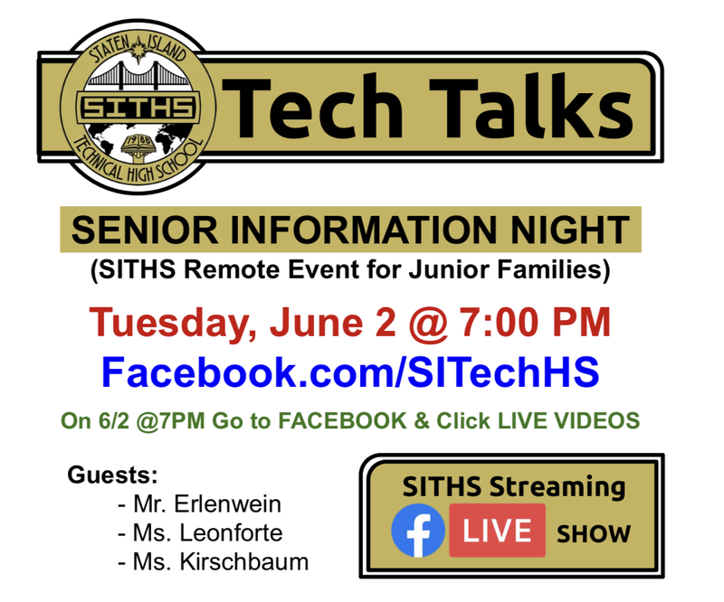 Senior Information Night Graphic