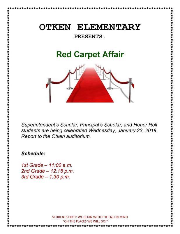 Otken Elementary Red Carpet Affair.