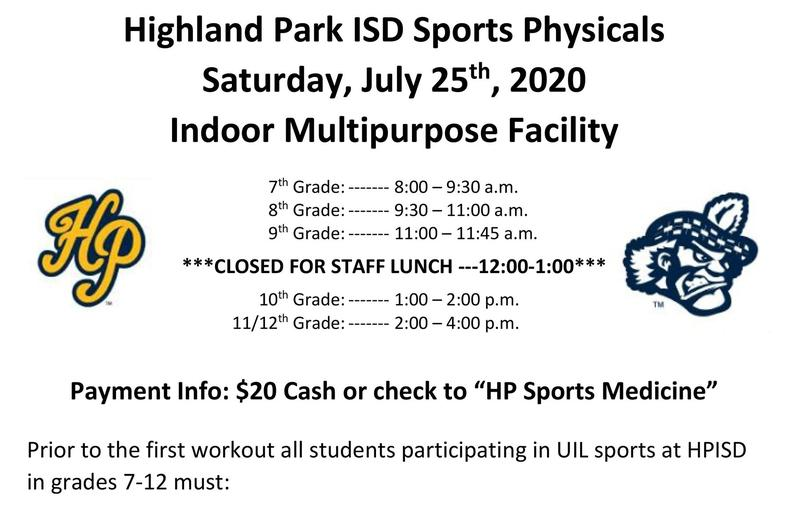 Athletic Physicals July 25 Featured Photo
