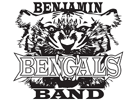 Black and white logo of a bengal tiger with text that reads 'Benjamin Bengals Band'