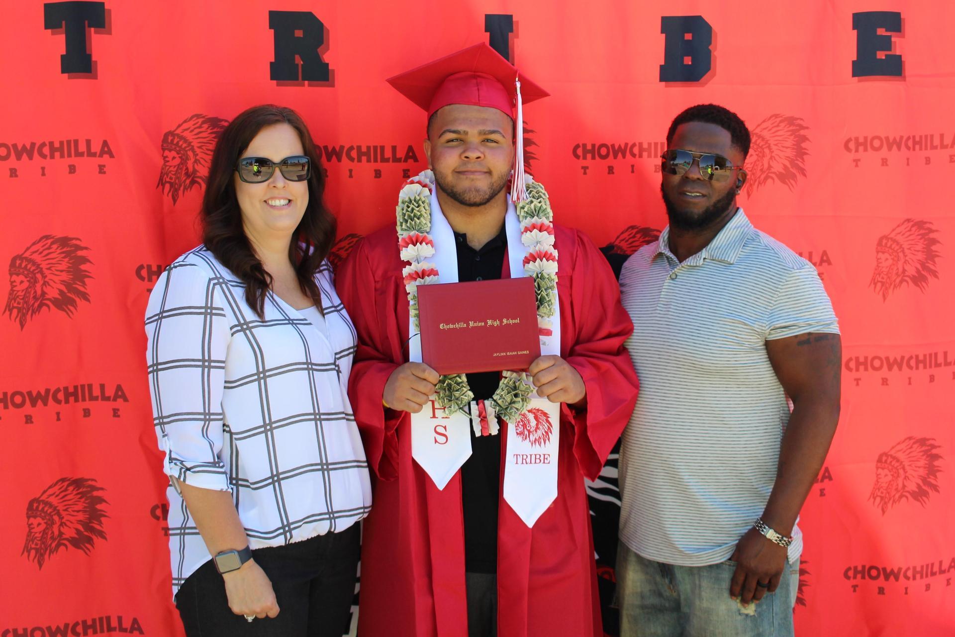 Jaylinn Gaines and family