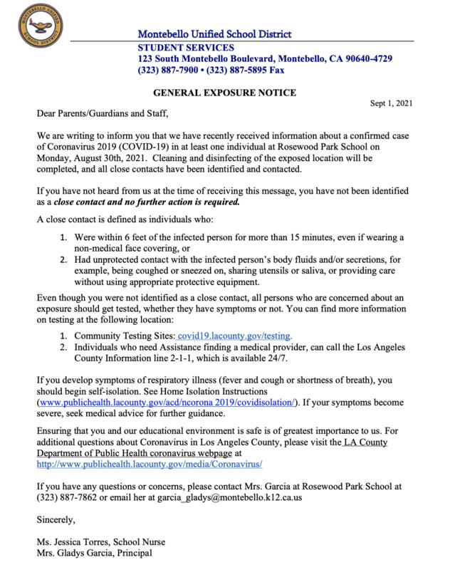 gen ex notification letter