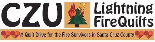 Logo for CZU Lightning Fire Quilts