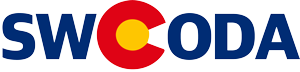 the letters SWCODA the C is from the colorado flag
