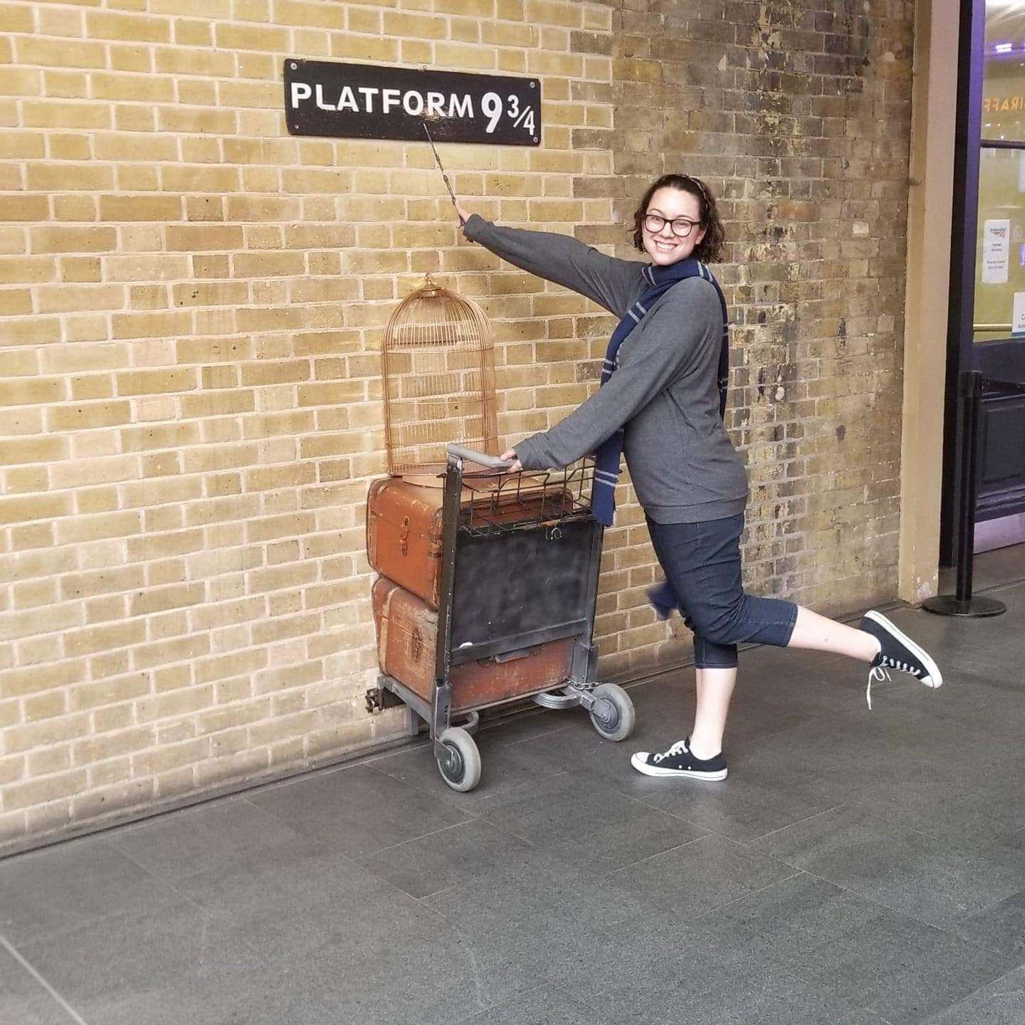 [This is me visiting Platform 9 and 3/4 in London, England in July 2018! I fell in love with London and am always planning my next trip abroad.]