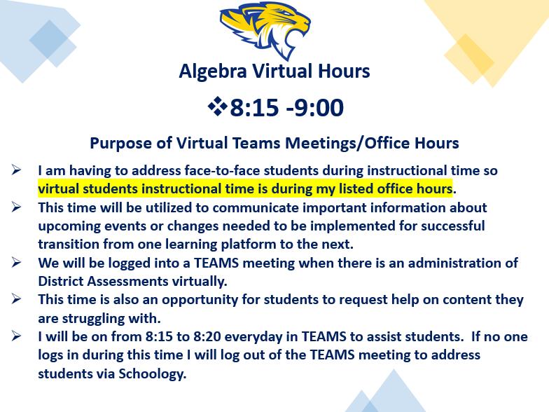 Virtual Office Hours & Purpose