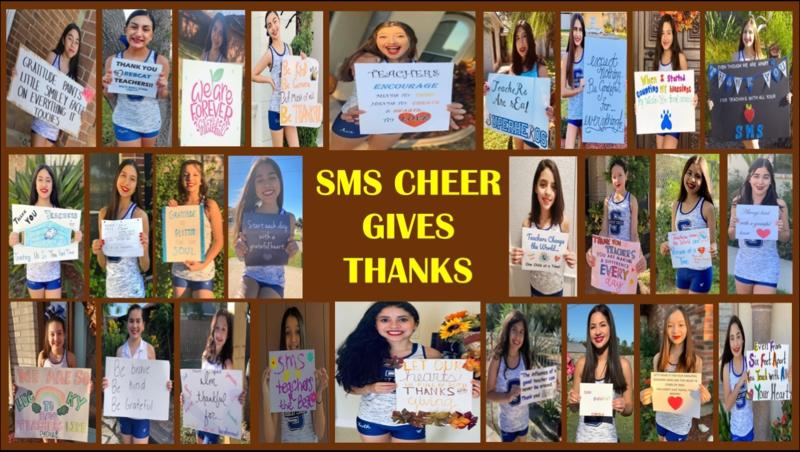 cheer gives thanks