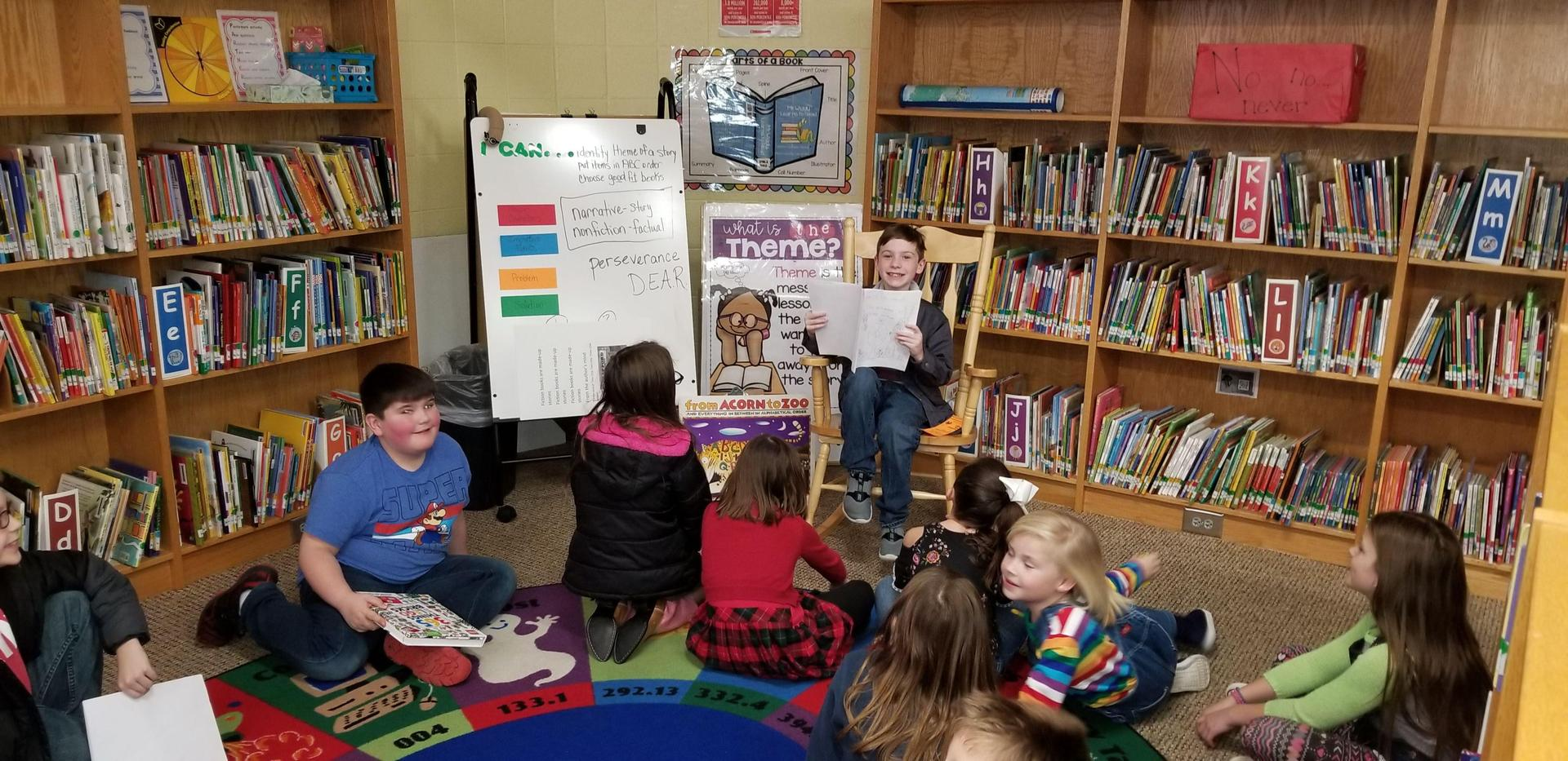 Student Sharing Own Book
