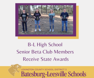 B-L High School Senior Beta Club Members Place in State Competitions