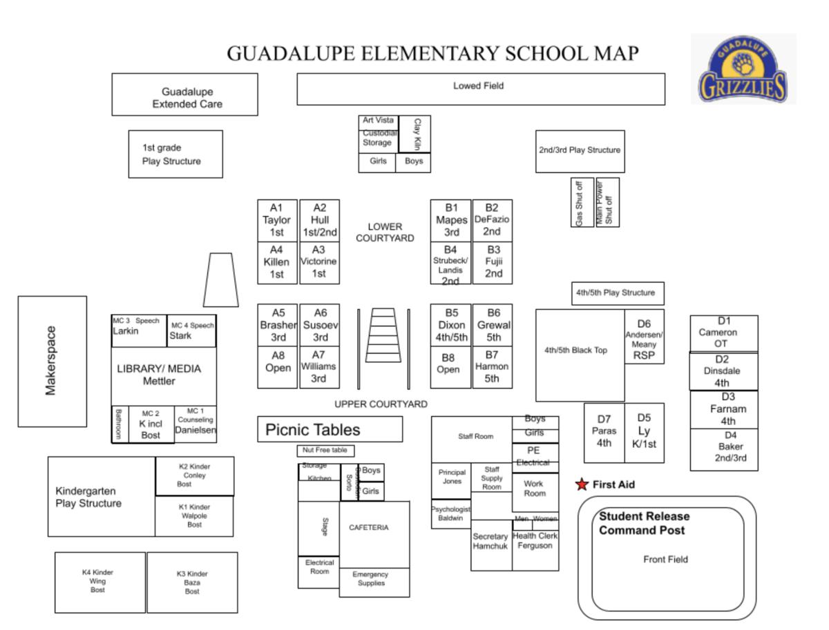 Classroom and teacher locations