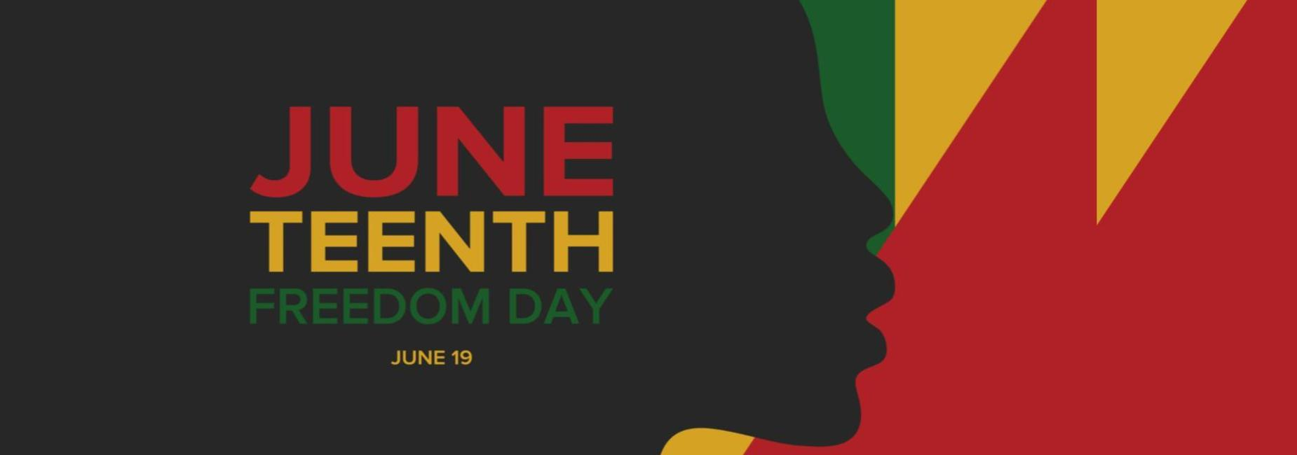 Juneteeth Freedom Day on June 19th Banner