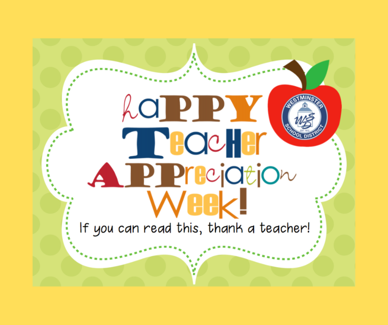 Happy Teacher Appreciation Week
