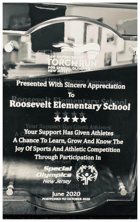 Special Olympics plaque