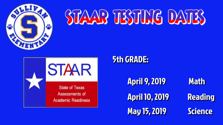 5th testing dates