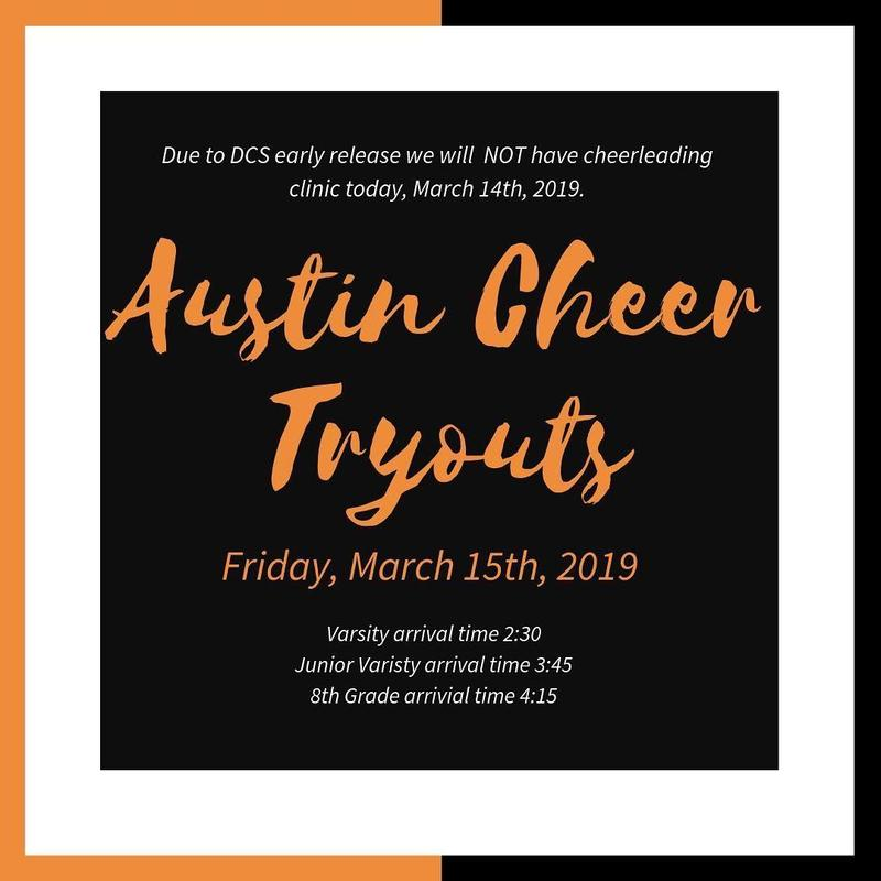 Cheer tryouts on March 15
