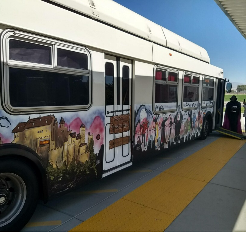 Halloween Themed GET Bus Visits ABLE Program
