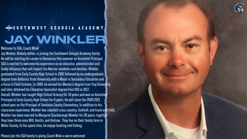 SGA Welcomes Assistant Principal Jay Winkler Featured Photo