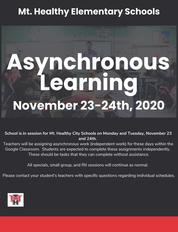 Asynchronous Learning Monday & Tuesday Nov 23 &  24 Featured Photo