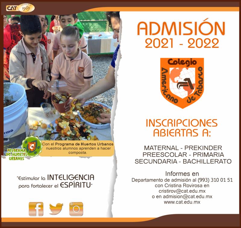 PRIMARIA: ADMISIÓN 2021 - 2022 Featured Photo