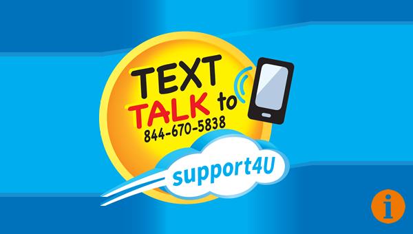 Text TALK to 844-670-5838