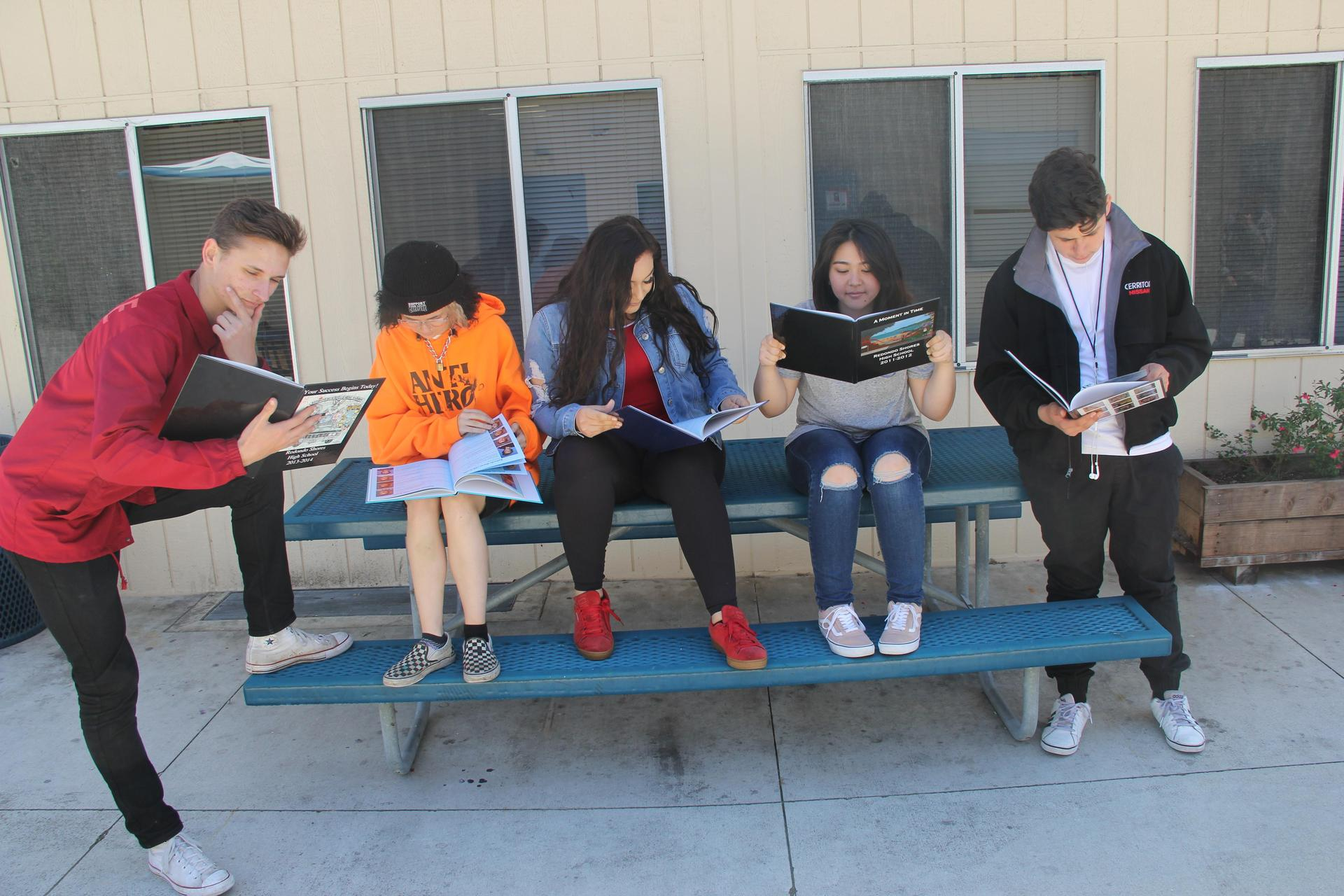 ASB Yearbook Committee Students