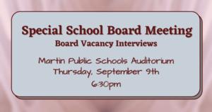 Special Board Meeting - September 9 2021