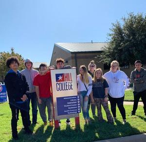 Students at Hill College