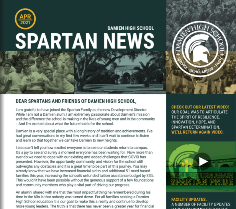 Read our latest Spartan News - April 2021 Edition Featured Photo